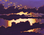 SUNSET BLINDS Cloud Painting by Mark Smollin