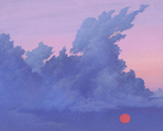 Salmon Sun Cloud Painting