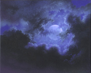 Pasadena Moon Cloud Painting by Mark Smollin