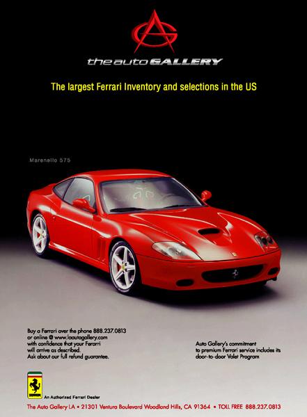 Ferrari Gt Print Ad Design