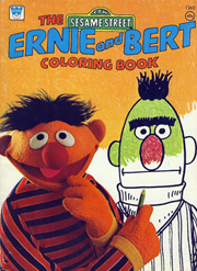 1976 Ernie And Bert Coloring Book Cover