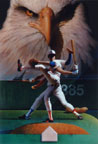 Baseball Painting by Mark Smollin