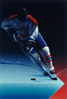 Washington Capitals, Hockey On The Edge, Painting by Mark Smollin