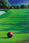 Golf Painting by Mark Smollin