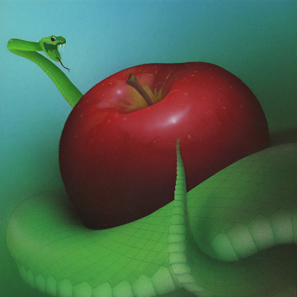Apple and Eve - Acrylic Painting by Mark Smollin