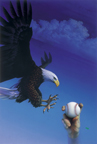 Screaming Eagle Baseball Painting by MArk Smollin